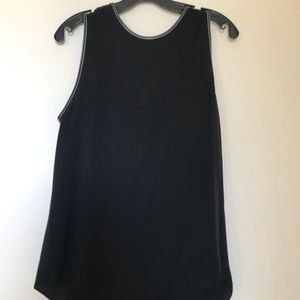 Theory Black Silk Top